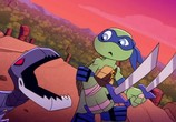 Сцена из фильма Маленькие герои-черепашки: Взрыв из Прошлого / Teenage Mutant Ninja Turtles - Half-Shell Heroes: Blast to the Past (2015) Маленькие герои-черепашки: Взрыв из Прошлого сцена 2